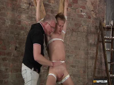 Blond Twink Drained Of