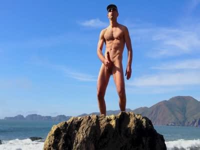 Beach Wank Cum 3