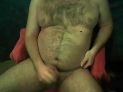Bear Jerk And Cum