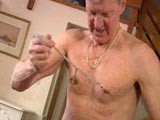 gay porn Rough Daddy Jerk Off || Steve Wanted to Show Us How He Enjoys Jerking Off and Lets Just Say That He Likes It Rough! Chains, Nipple Clamps and Ball Twisting Is All Part of His Jerk Off Routine.