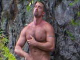 gay porn Lords Of The Jungle - Part 7 || Blake, alone, strokes his cock and enjoys his beautiful body