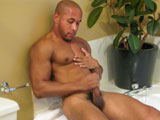 gay porn Lawson Kane || Lawson Kane is enjoying his decompression. Having just got off work, hes ready for a relaxing shower and a night at home. Stripping off his clothes as the water runs in the bathroom, he begins to fondle himself in the mirror, and it gets him worked up enough that he decides to postpone his shower and squeeze one out first. Sitting against the side of the tub and leaning against the wall, he rubs his chest and arms, moves down to his legs and then begins to cup his balls as he starts to stroke his dick. Spreading his legs wide, he jacks his dick into a full salute. And as the bathroom begins to steam up, one might mistake it for the humidity of the water, or it might just be the heat that Lawson is emitting, before he goes at it with determination and works up a load that explodes all over his chest in messy sticky relief.