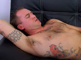 "gay porn Lance Corporal Jake || Lance Corporal Jake was deployed twice to the war zone of Afghanistan. He joined the Marines because he wanted to be ""the best of the best"". He also wanted to help others in their time of need. This hero likes being a bad ass and it shows. Sporting his tan camouflage pants and signature green t-shirt, this hunk is ready to get down to business. He grabs his crotch and starts yanking at the military issue fabric. Unbuckling his belt, he reaches into his pants and grabs the stiff meat, gently tugging at the head. Staring intently at the porn, he pulls off his shirt, revealing a fur covered chest and perfect treasure trail. The tattoo on his chest reads, ""veni vidi vici"", in true military fashion. As he settles in for a long jerk off session, he lays back across the couch, his feet propped up with boots still on. Getting ever more comfortable, he shoves his fatigues down to his ankles, still keeping his boots on. As he comes up on his knees, his perfectly round, furry butt sticks out into the room. He whacks his cock in this position for awhile before laying back down. His face and chest begin to flush as his ballsack tightens in toward his fuzz covered taint. Silently, the military stud begins to cum. White splashes of jizz leap from the tip of his dick and land on his fur covered tummy, some tangling in the perfect bush of pubic hair."