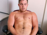 gay porn Beef Cake || Marko Lebeau jerks his uncut cock while sitting at his desk