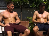 gay porn Marine Tyler Gets Rimm || Its a hot sunny day and Straight Royal Marine Tyler is sunbathing and sat close by is naughty straight seducer Justin! So you dont have to wait long for deviations, Justin is soon feeling up Tyler and goes in for a kiss and get rewarded with some great sensual kissing and is presented with Tylers throbbing uncut cock to suck! Getting carried away Justin rims Tyler, who quietly whimpers with the attention on his hole! Justin is next to be pleasured as Tyler sticks his very hard throbber in Justins hole and gives it a right good workout. Justin gets it in a few positions before blowing his load &amp; Tyler pulls out and unloads on Justin.
