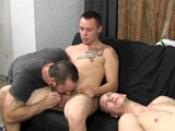 "gay porn Flame On: Jacob And Tj || Straight Roommates Jacob and Tj Take Part In a Classic Fraternity Scene... Jacking Off Together With Straight Porn Playing In the Background. but This Time, the Pledgemaster Makes Them Get Their ""flame On"" With Each Other, and One of Them Ends Up With a Mouthful of Cum."