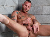 gay porn Self Expression || Derek Parker told us that he is an exhibitionist at heart and also loves to masturbate. So much so, that he said is was a form of Self Expression for him and he really gets off knowing someone else is watching him. So, High Performance Men is pleased to bring you Derek Parker in this very intimate, sexy and piggy solo performance. Derek quickly undresses for our cameras and gets right to work on his beautiful cock. He then turns around and goes to town on his ass, spreading his ass cheeks wide for everyone to see his beautiful hole up close and personal. As he fingers his hole, his cock responds and he is soon hard as a rock. He strokes his cock vigorously and cannot hold back any longer as he shoots a big load all over his stomach for us. Since he is a cum pig he begins to lap up the cum off his fingers and he loves every drop of it. He then steps into the shower to clean off, take a piss and give us one last view of this studs stunning body! Enjoy