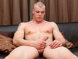 gay porn Jake Smith || He might look big and mean, but Jake Smith doesn't really call himself much of a hard man - so to speak! He's actually the younger brother of one of our other popular guys - Lee Smith. He's come along to give it a go himself, and although he's straight he doesn't seem to have much of a problem showing off his big beefy bod and getting his cock hard for a good wank, squirting a generous load of watery cum for the boys.
