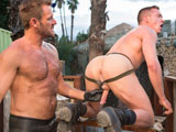 gay porn Fire In The Foxhole -  || Hirsute hunk Anthony London finds Jackson Lawless on his back with his notorious hole in the air ready to get fisted. Anthony grabs a turkey baster full of lube and preps Jacksons hole for his giant hands. He covers his gloved fists and forearms with the lube and expertly begins probing Jacksons tight ass. In no time hes working his fat fist in and out of Jackson, massaging his prostate from the inside out. Jackson flips over and gets on all fours, allowing Anthony to shove even more of his forearm deep inside the willing bottoms manhole. Anthony notices that Jacksons got a hard on so he grabs onto the man meat with his free hand and jacks a load out of him until he shoots all over the barracks.