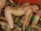Alex Ts ass is dripping with the cum of five men when Gebrussel comes into the room. Still bent over and begging for more cock, Alex doesnt say a word and lets Gebrussel walk right up behind him. Hard cock in hand, Geb just slides it in and starts pounding away at his hole.