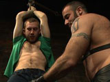 gay porn Spencer Reed And Cody  || Chad Brock is tied up, zapped, caned and fucked by Dirk Caber