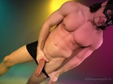 Big Cock Stripper Ricky Performs on Maskurbate.