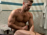 gay porn Landon Conrad || After seeing U.S. chiseled stud Landon Conrad getting his brains fucked out in 'Inside Job' by Issac Jones, this week we get to see how this slick suited top executive enjoys his leisure time with a private one to one session with him in the locker rooms before a game of golf.