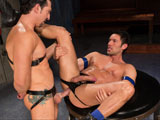 gay porn The Sub - Scene 1 || Standing at over 6 feet tall, hung muscular hunk Alexander Garrett hardly looks like your typical sub. When Jimmy Durano finds the Latino powerhouse lying on his back stroking his giant uncut cock Jimmy makes it clear whos in charge. He goes down on Alexander, sucking his thick dick and balls, then licks his way down his shaft to the studs tight hole. Jimmy uses his tongue to loosen him up then slams his rock-hard cock into Alexanders big muscle-butt. Jimmy fucks the towering giant on all fours then flips him over on his back and pounds a load out of him. Like a good sub Alexander gets on all fours and finishes Jimmy off by sucking him dry.