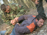 gay porn Winter In The Forest E || Roman was sent to clear the forest from possible outposts. When he attacked Lev he didn`t see that a second soldier was nearby. They overwhelmed him and started a rough interrogation.