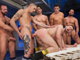 gay porn Pack Attack 7 Troy Dan || Its time to do what they came for; the pack is ready to fuck Troys hot ass! The studs get in line and parade their rock hard cocks in front of Troy who begs the men to fuck him. Jimmy Durano steps up first and pounds him hard but after a few thrusts Troy is demanding the next man in line to step up and stick it in. Open my ass up he screams as Trenton Ducati, Fabio Stallone, Ty Roderick and Josh West all take turns slamming his hot hungry hole. The more cock he gets the more cock Troy wants in his ass; this is one insatiable bottom! From the looks of it, this anal assault will never end.