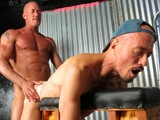 "gay porn Jake Norris And Jayson || Daddy Jake Norris Is In Town and Sitting In the Backroom At the Ramrod Pleasuring Himself When Our Boy Toy Jayson Park Walks In and Starts Servicing Daddies Thick Cock. Jake Has No Problem Man Handling This Boy Toy and Bends Him Over the Bench... ""nice Tight Hole Boy"" We Hear Jake Say, ""nice Tight Hole."" Flipping Jayson Over on the Bench, Jake Goes Back In for More as We Hear Him Say ""give Me That Hole Boy"" and It Was All Jayson Could Do to Get ""yes Sir"" Out of His Mouth. Jake Pounds Jayson's Chest With His Fist While Pounding His Tight Hole. Want Me to Cum Boy? Jayson Responds ""yes Sir."" Jake Pulls Out and Cums on Jayson's Hole Then Shoves It Back In and Fucks Jayson Some More Until He Cums. Jake Then Walks Around to Let Jayson Suck and Clean Up His Cock. Download the Full Video Here!"