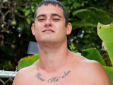 gay porn Beefy Bubba || Beefy Bubba - Thick UNCUT Hawaiian Jerks his Cock OUTDOORS!