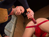 gay porn Hole Busters 8 - Scene || J.R. Bronson knows that nothing eases the stress of a hard day on the job site like a hot assplay session, especially when your boss is hunky Mitch Vaughn. J.R. convinces Mitch to take a break by showing off his chiseled washboard abs then bends over and puts his big bubble-butt in the air  and its on! Mitch grabs a nearby flashlight, dunks it in a bucket of lube and shoves it in and out of J.R.s ass. J.R. flips over on his back and begs for more so Mitch takes the inflatable and pumps it up inside J.R.s tight hole until the horny stud cant take it any more. J.R. blows and hes ready to get back to work, until next time.
