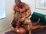 Two Amazing Mature Muscle Hunks Fucking Hard.