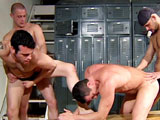 Gay Porn from LucasEntertainment - Vin-Nolan-Leads-A-Locker-Room-Foursome