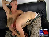 gay porn Pounding That Hairy Ha || Tyler Takes the Initiative and Grabs Jay by the Pale Skin Pole. Jay Appreciates His New Friend and Seems Quite Willing to Give a Fellow Man In the Service a Friendly Service Job.