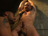 gay porn Leo Forte And Mitch Vaughn || Leo Forte brings Mitch Vaughn to his dungeon for a hard bondage fucking
