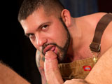 gay porn Red Handed - Scene 2 || Drew Sebastian takes a break in the bunkhouse to work out his hole with a thick boot-shaped dildo. Alessandro Del Torro catches the horse-hung stud bouncing up and down on the enormous toy and gets in on the action. He pushes Drew down on the latex boot as far as his ass will go until the greedy pig-bottom begs for Alessandros fist. Alessandro flips Drew over, greases up his gloved hands and begins to work Drews hole. As soon as his fist goes deep inside Drews ass both studs yank on their hard dicks. Alessandro cant resist sucking Drews huge pierced cock while he fists him with one hand and jacks off with the other. Alessandro shoots a hot steam of white jizz then goes back to work a massive load out of Drew.