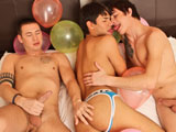 gay porn Popping Party || What do you get when you take 3 hot Twinks, a room full of balloons, and permission to go nuts' Its a popping party!!! So strip down to your undies and jump in with Axel Wolf, Jay Cloud, and the insatiable Andrew Markus.