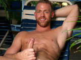 gay porn Down Time Christopher  || Christopher Daniels finds himself all alone, so he thinks, at the resort pool. After a swim, he rinses off in the shower and discovers that you are watching him. Being an exhibitionist at heart, Christopher knows what you want and he invites you to watch him as he pleasures himself. He moves to a lounge chair where he strips naked and sports an impressive cock engorged and pulsating with every stroke of his hand. Watching his tight abs contract as he stroked his cock is certainly a site to be seen! He then bends over for you and spreads his ass as he slips a finger in his beautiful hole. Knowing you want to see him shoot a load all over his tight abs, he then lies down on the chair and continues stroking. He lifts his legs and upon putting a finger up his ass and stroking, he cannot hold back any longer and shoots a nice load just for you. Enjoy!