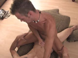 gay porn Jake And Danny - Part  || They take a min and change positions so that Danny is now fucking Jake in a missionary style. Jake continues to stroke his cock as Danny slowly fucks his ass. Jake can't stop saying Fuck and Danny is moaning as well. This is really starting to get hot. Danny asks if Jake is liking this and all Jake can do is moan his pleasure. After a moment or two Jake climbs on board the Danny express and begins to ride that hard cock while he jerks his own dick. That was definitely the fast way to get Jake to explode his load all over Danny's stomach. Then he crawls off and it is Danny's turn to unload his hot jizz. He gets on the couch and begins to jerk his dick until he crawls over and begins to soak down Jake's stomach with his creamy jizz. The boys seemed to have a great time and I think Hunter did a great job capturing it all for us! We hope you enjoy it and will see you again on the next update!