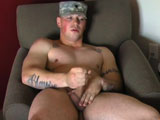 "gay porn Ryan Iii Solo || Active Duty introduced Ryan III in the War Chest, yup, another new recruit named Ryan. It sure is a popular name! This Ryan is 25 years old and stands 6' tall and weighs in at a sturdy 205 lbs. He's from Florida and has been in the service for four years and ""loves"" it. Just wait until you see the beefy tree trunks he calls thighs. At the end of his debut solo, the newbie says he'd be willing to let a guy blow him, and even to bottom, but that he doesn't want to give head. I think we can work with that."