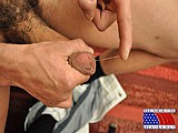 gay porn Thick Dark Uncut Sausa || as He Pulls the Foreskin Over the Head Several Times, the Monster Begins to Grow.