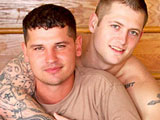 gay porn Elijah And Kolby || Active Duty's new recruit Kolby has been hungry to give some new things a try, but he just hadn't had the opportunity present itself until he met Dink Flamingo. Veteran model Elijah had been texting with Dink for about a week and was really anxious to get back in the game after a long absence. Don't miss this scene where Kolby tops Elijah in his first sexual experience with a guy. I can't give you all the details here, but Kolby's first time with a guy gets really hot and heavy, and includes both performing oral, 69, and Kolby fucking Elijah in multiple positions!