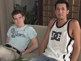 gay porn Blake And Jordan - Par || Welcome back to Broke College Boys. I'm sitting here with Blake and Jordan who are working on a final project together. Blake had that class before so he is giving Jordan some much needed background and inside tips. It is due in two days, and although Jordan had two months to work on it, he hasn't done much. It is a good thing that Blake is going to help him out with it. Jordan is twenty-two and he is sorta seeing someone on and off. His latest sex adventure was when he went to his bosses wedding and he hooked up with the two guys that were doing catering for her. They took off with Jordan and didn't come back. Blake is still twenty and he didn't feel like telling us a sex story. He is always so shy. He states the last time he got laid was the last time he came and visited us at the house. I am always horny so I did my best to entice the guys into fucking each other. I offered seventy-five dollars to go down on each other. They told me that was too low. They told me that even though college was just about over for the summer they needed money to party with.