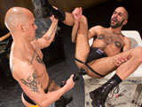 gay porn Hole Busters 9 - Scene 1 || Boyhous opens his cavernous hole to Christian Andrade who pummels him with some of the biggest weapons from the Hole Busters arsenal. Christian shoves all four giant rubber anal beads in the greedy pig-bottoms hole and twists them around, massaging Boyhous prostate from the inside out. Next he grabs the huge bullet-shaped dildo and rams it in and out of Boyhous ass until the entire toy disappears inside.