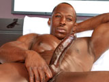 gay porn Derek Jackson || Hes a sexual beast, oozing desire. Get in close for an intimate look at Derek Jackson. Youll be mesmerized by his dance moves as he strips out of his SWAT team uniform and lathers himself with foamy suds. Check out his incredibly ripped physique while he strokes his massive, hard cock just for you. His large hands grip his love stick tight, jerking slow, then quick. Hes an instant Next Door Ebony superstar that will leave you craving more. So join him and share this super sexy, super sudsy, smoking hot wank session.Enjoy!