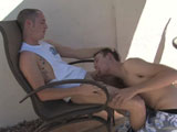 gay porn Donovon And Aiden - Pa || We are out by the pool again, this time with Aiden and Donovan. It seems that everytime that we see Donovan he is out by the pool. He states it is because they are in Arizona and it is hot. I think it is because he likes checking out the guys in their swim togs. Donovan states that he has been hanging out and working. He did a video for us before on his one year anniversary and of course he states that he will let his boyfriend watch it with him. That is a real turn on for him and he will fuck him hard. God I have to love that horny nasty boy. Aiden is heading home after tomorrow. He has to head back to Ohio and I think he will freeze his balls off esp. after going from Arizona in shorts to freezing his balls off. He did get to know quite a few cute guys here and got laid a few times.