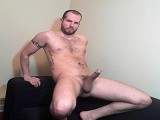 gay porn College Stud, Stiff Co || a Guy Having Fun Naked, on His Couch, Playing With His Cock