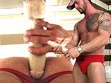 gay porn Stryker In Deboxer || Pornstar Manuel Deboxer Fucks Himself With the Huge Jeff Stryker's Dildo.
