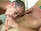 gay porn Ryan Continued - Part  || Ryan was lying on the examination table, breathing heavy from the hot jerking I gave him. Sweat was rolling off his body, his mind blown from the amazing blowjob I was able to provide him. Another satisfied patient but there was one problem. When I had asked Ryan about his Insurance coverage he told me he had none and no money on top that to pay for todays visit. So I made a deal with him, he would have to show my cock the same attention I showed his only moments ago and that would cover all expenses for today. I was horny as fuck and this guy was going to help me bust my nut even if it killed me. He started to suck on my large throbbing dick which had become a full nine inches in length and six inches in girth. Getting my knob all wet with his tongue and sucking on my shaft at the same time was beyond amazing. It was my professional opinion this guy was an expert cock sucker. I planted my cock deeper and deeper into his mouth almost getting him to swallow my huge cock whole. I felt my load building and needed to cum really bad. I pulled out of his mouth and had him suck on my balls while I shoot a huge amount of cum on his back. With his debt paid and his groin pains a thing of the past my patient went on his merry way.