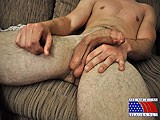 gay porn Hot Furry Guy Rubs His || His Smooth, Muscular Chest Is Tan. a Faint Treasure Trail Leads Down His Rippled Stomach to the Belt of His Pants.