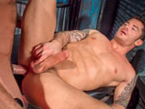 gay porn Caleb Colton And Mitch || The groaning and slurping we hear is coming from Caleb Colton and Mitchell Rock. Furry, tatted Caleb is getting his supersized cock inhaled by super hard-bodied bodybuilder Mitchell. Calebs hefty slab slides easily all the way down Mitchells gullet. Mitchell uncouples and improvises an intimate muscle show, caressing every rigid contour of his smooth, magnificent torso. His ass makes Caleb so anxious that he shreds Mitchells shorts to be able to grab his buns and plunge his face in the crack. The aroma is intoxicating. Caleb sucks Mitchells cock, and his balls too. Mitchells pecs are amazing to behold when Caleb enfolds him in his arms. They crane their necks to lock lips and Mitchells nipples stiffen in Calebs hands. Holding onto rings hanging from the ceiling, Mitchell spreads and lifts his legs and swings onto Calebs cock. Every ab, delt and lat in Mitchells torso strains as he rocks onto Calebs cock, his hole grasping, then letting go, then swinging back to be skewered again. Caleb breaks out in an all-over sweat. Release comes in sequential orgasms that ice Mitchells pecs and nipples like a delicious dessert. Caleb licks up every drop. His verdict: One of the hottest guys I ever fucked.