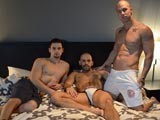 Austin and Anthony Were Doing What They Are Always Doing- About to Have Sex. but Who Would Complain About Rod Daily Walking In and Willing to Join? Rod Came In and Ate Anthony's Ass for a Couple Minutes Before Just Sticking It In and Fucking Him. Then They Swapped Spots and Austin Fucked Him. They Finished Off With Anthony Fucking Rod Until He Came... .then Anthony Pulled Out and Both He and Austin Came All Over Rod. It's Another Real-sex Scene, so It'll Be Difficult to Not Enjoy!<br />