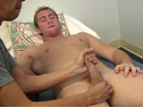 gay porn Conner And Mr Hand - P || Mr. Hand enjoyed what he did with me so much the last time he was over that he asked if he could play around with the next guy I had over, and although I was a bit shocked I said yes. I was pleased that he enjoyed hanging out with me and jerking on guys. It leaves me hands free to really take a better quality video. I had Conner over he has been here a few times and Mr. Hand really loved how this blond hottie looked. I told him to sneak in on him in the morning that he had some great wood first thing in the am. Mr. Hand snuck right on in and began to touch, fondle, and jerk on Conner's shaft until he woke up and they shared some good morning greetings as he began to work on Conner's cock. Conner had no objections to having his meat jerked and stroked. Who would? I know I'd love to wake up and have my wood handled first thing in the am.