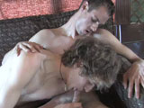 gay porn Max And Lucky  - Part  || Welcome back to Broke College Boys, I found Max and Lucky in the back of a bus. They were cleaning up after a big party that they went to last night. Max is the 19 year old, which is why he didn't get drunk last night. Lucky is 22 and says that he is six foot two. When I asked Max how tall he was he stated six foot twoish. Ish is always a fun word I think. He states that Lucky is a bit taller than he is, but he thinks it is because of the hair. The boys tell me they have been lounging around grabbing some rays for the past few days. Lucky came down for a holiday and he is looking for work as usual, and Max is also looking for cash. I told them that I always have money and I cut to the chase and offered them a cool grand to fuck each other while I taped them.