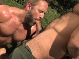 gay porn Spencer Reed Tops Dirk || Sprawled out under a pick-up truck, Spencer Reed is busy with his