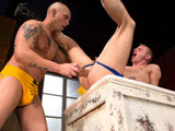 gay porn Hole Busters - Scene 3 || Randall OReilly knows if you want something done right youve got to do it yourself. He lies down on his back and works his fingers into his ass to stretch it out so he can bust his own hole with a thick buttplug. Hes so engrossed in fucking himself that he doesnt even notice Christian Andrade lurking outside holding a huge black dildo. As soon as Christian walks in Randall offers him his big round bubble-butt and begs him to take over. The tattooed top-stud plows forward until Randall asks for something bigger. Christian complies by slamming a huge monster-size butt toy deep in Randalls greedy hole!