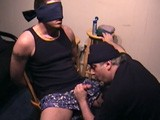 gay porn Straight Submission -  || College Jock Ethan Agrees to Being Bound to the Chair and as the He Zones In on the Moans From the Porno Flick He Quickly Get Hard. I Start Jerking His Cock and He Responds to My Double-fisted Strokes so I Start Licking His Shaft. I Can Tell He's Very Excited and Soon Ethan Blows His Load on My Tongue.<br />