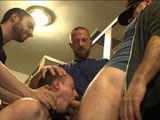 gay porn Holden Adam And Hayden || Holden Phillips gets tased, gang fucked and pissed on as he services a bathroom full of cock.